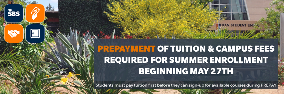 Spring 2020 Prepayments required Beginning January 24th