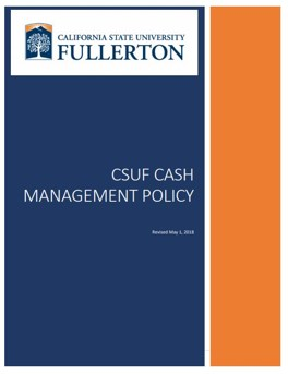 CSUF Cash Management Policy